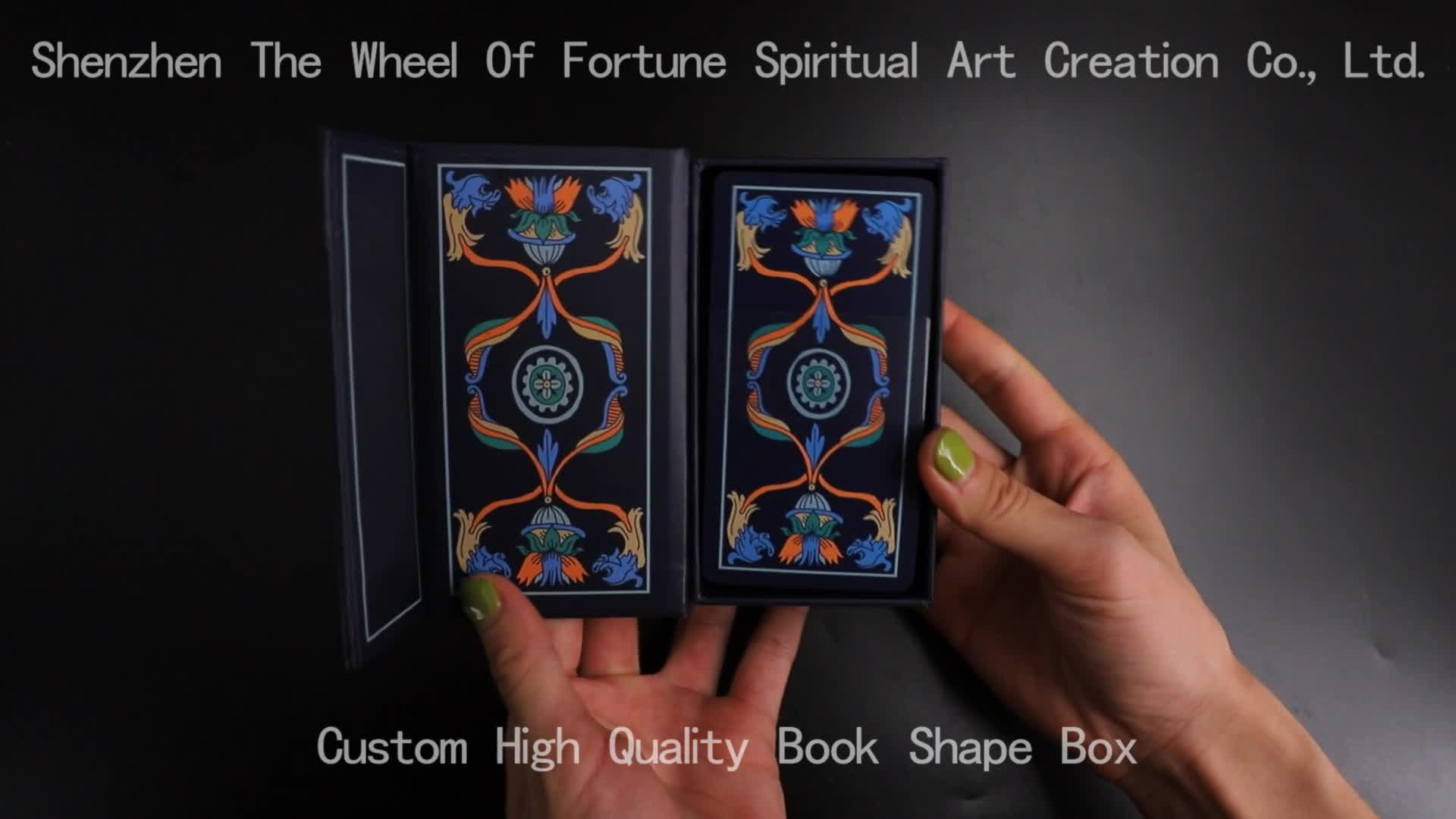 Standard Size Custom Printed Angel Tarot Cards Deck With Book