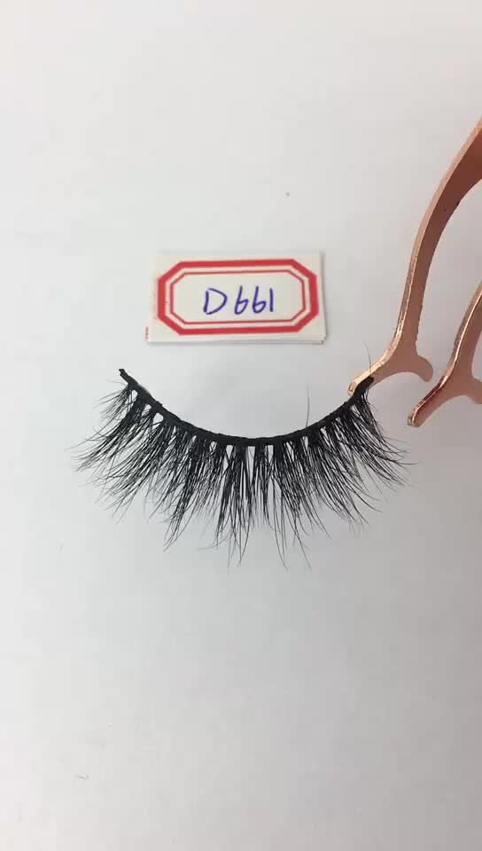 HZJY D661 Custom Lashes Packaging Fur Strips 3d Mink Lashes