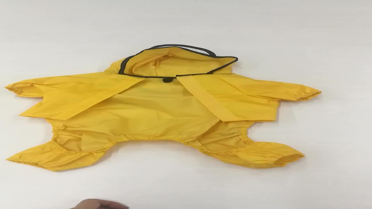 Pleine Couverture Chien Vêtements D'été Transparent Imperméable Réfléchissant Pour Chien Vêtements Pour Animaux de compagnie Chien