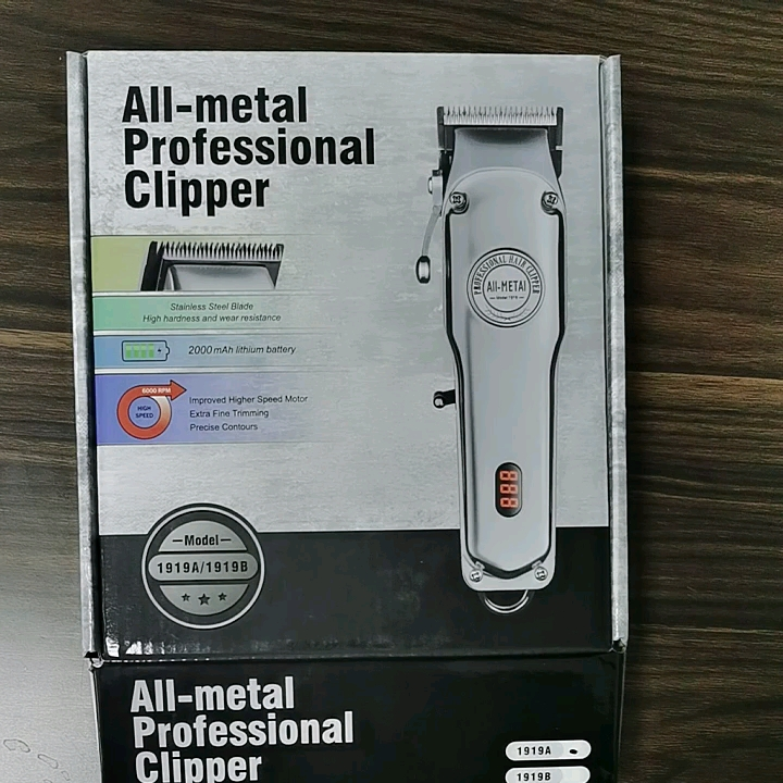 all metal 100 year clipper LCD display Cordless 1919 Hair trimmer adjustable cutter Barbers salon professional hair clippers