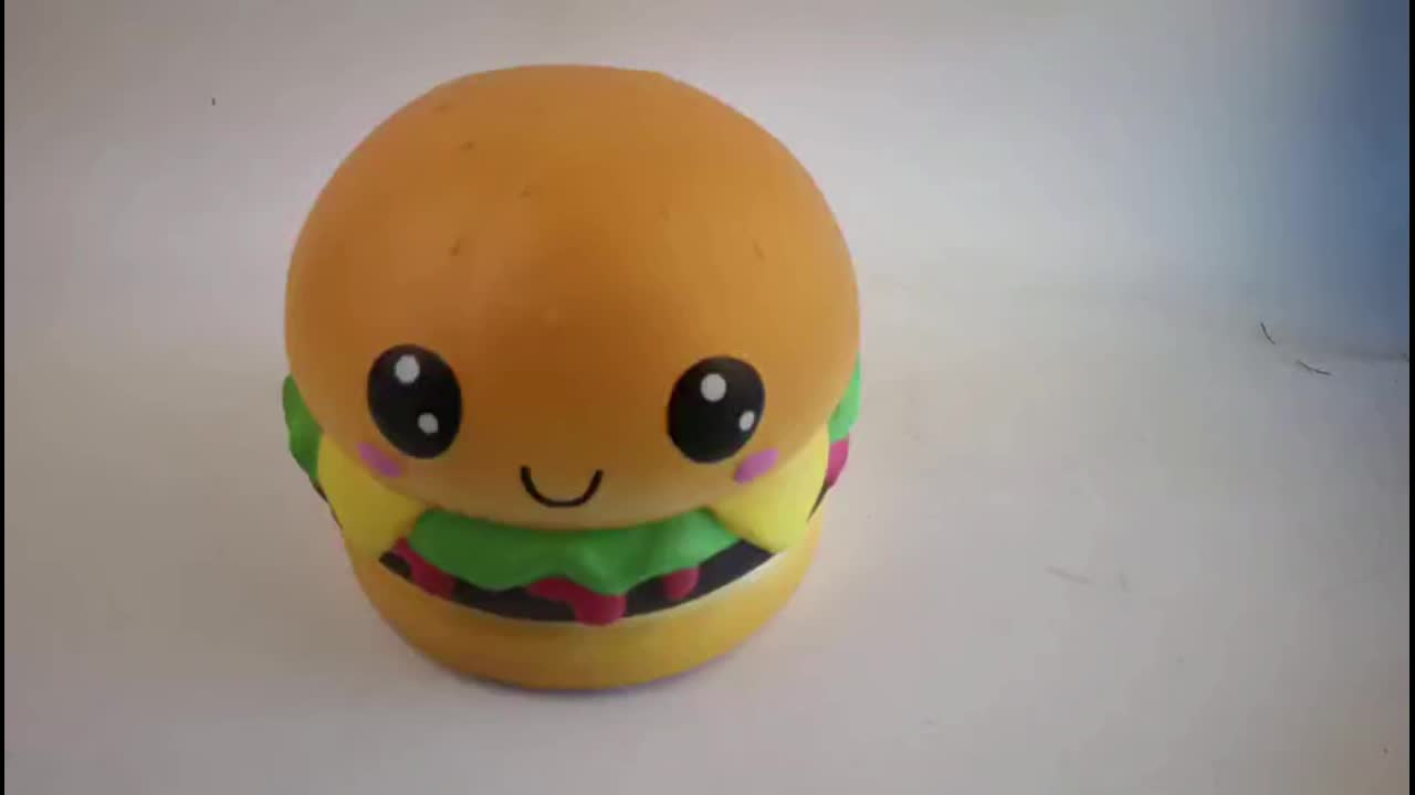 Manufacturer 22cm Jumbo Squishy Kawaii Hamburger Soft Slow Rebound Squishy Food Stress Relief Toy Giant