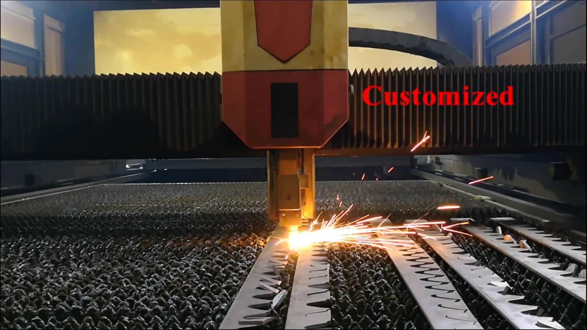 Aangepaste Dikke Stalen En Aluminium Plaatwerk Lasersnijden Dienst