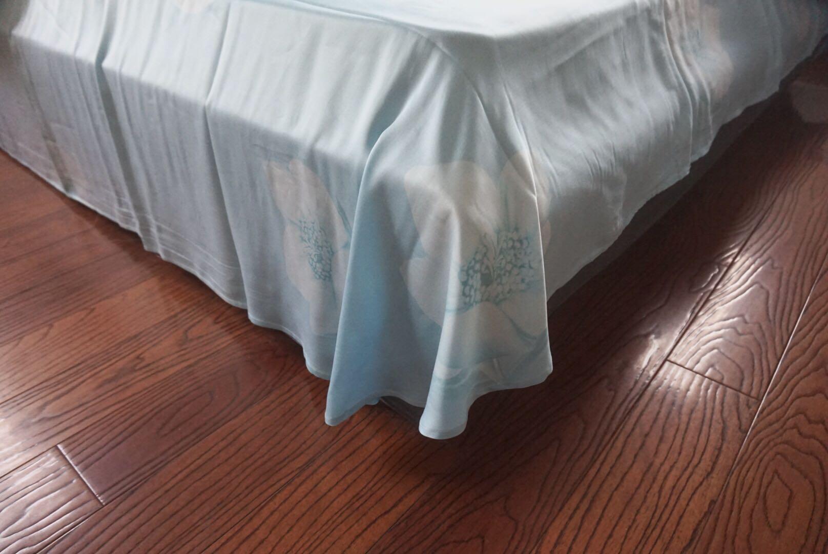 水星家纺双面贡缎天丝四件套