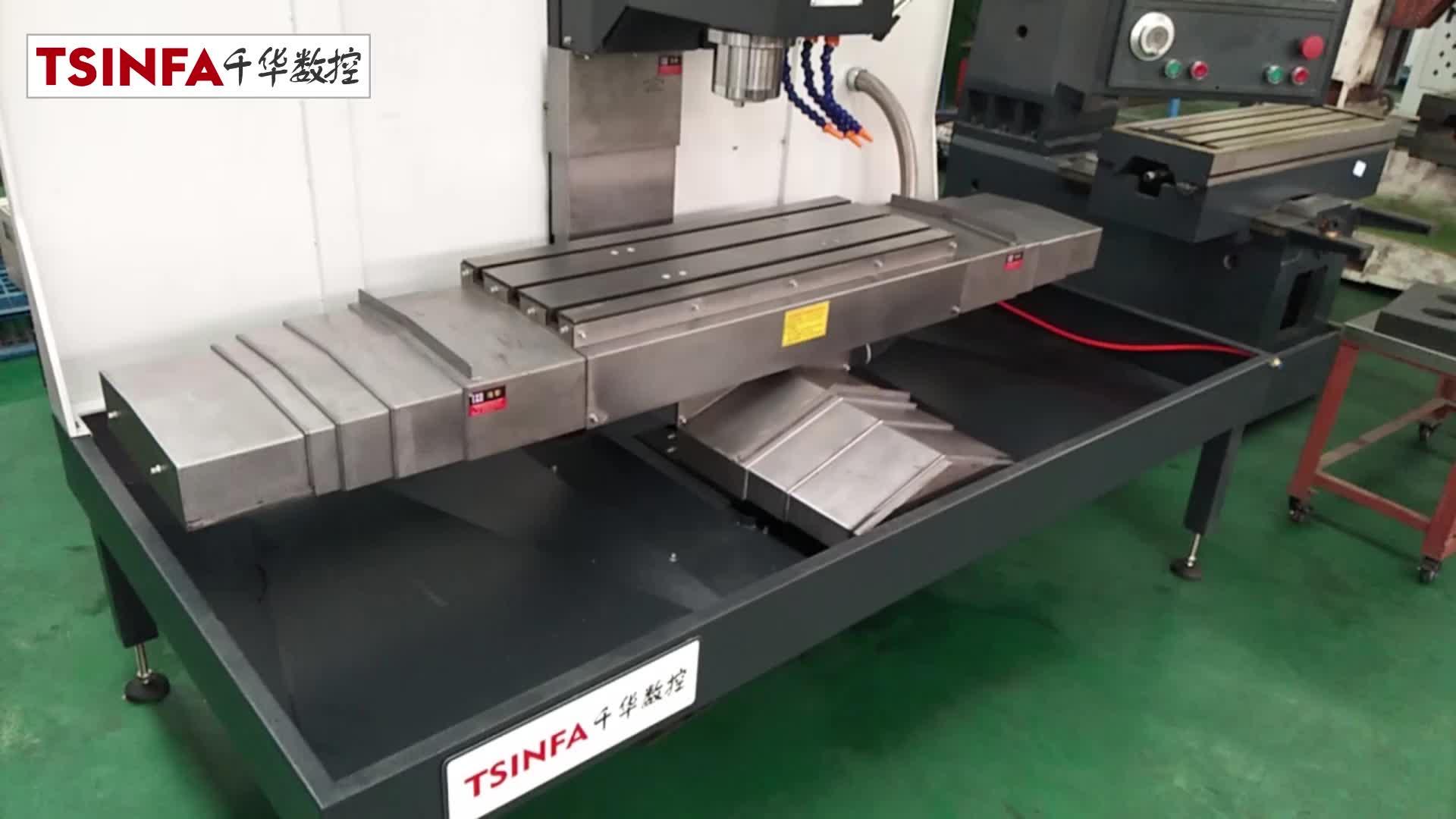 XK7126 shandong cnc freze makinesi VMC TVK726 masa boyutu 800x300 isteğe bağlı üç lineer kızak yüksek yapılandırma ünlü marka