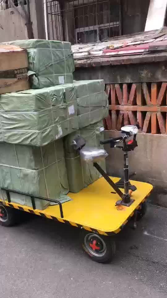 3 wheels electric  platform cargo  tricycle with cabin