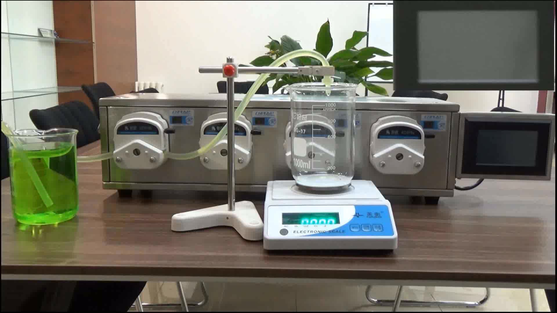 small bottle filling machine filling peristaltic pump