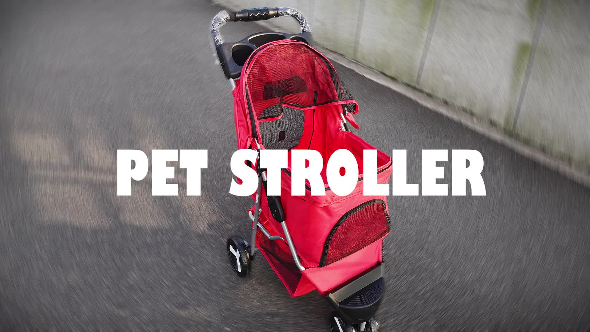 ペット用品ペットベビーカー 3 ホイール猫犬ケージベビーカー旅行折りたたみキャリア