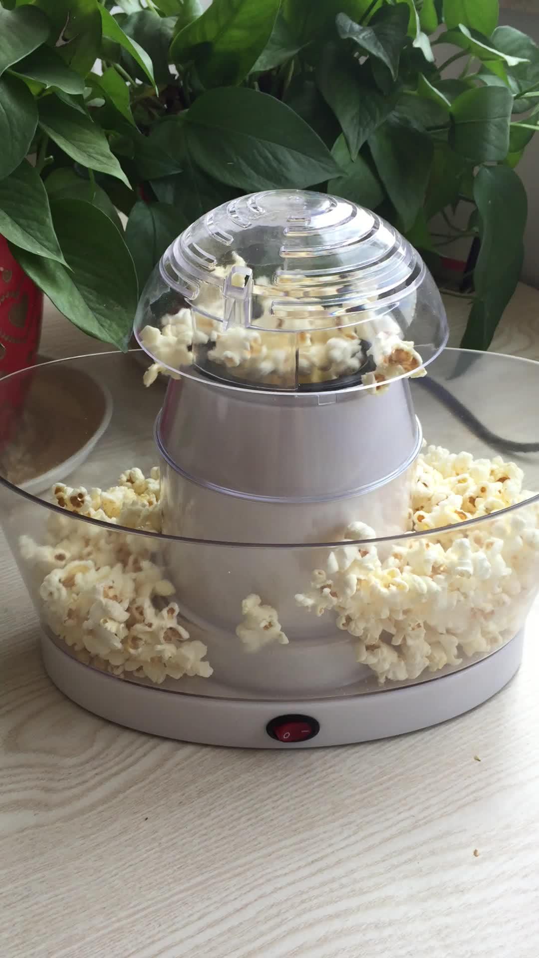 Rumah Tangga Minyak Otomatis Gratis Mini Popcorn Popper Listrik Udara Panas Mesin Pembuat Popcorn