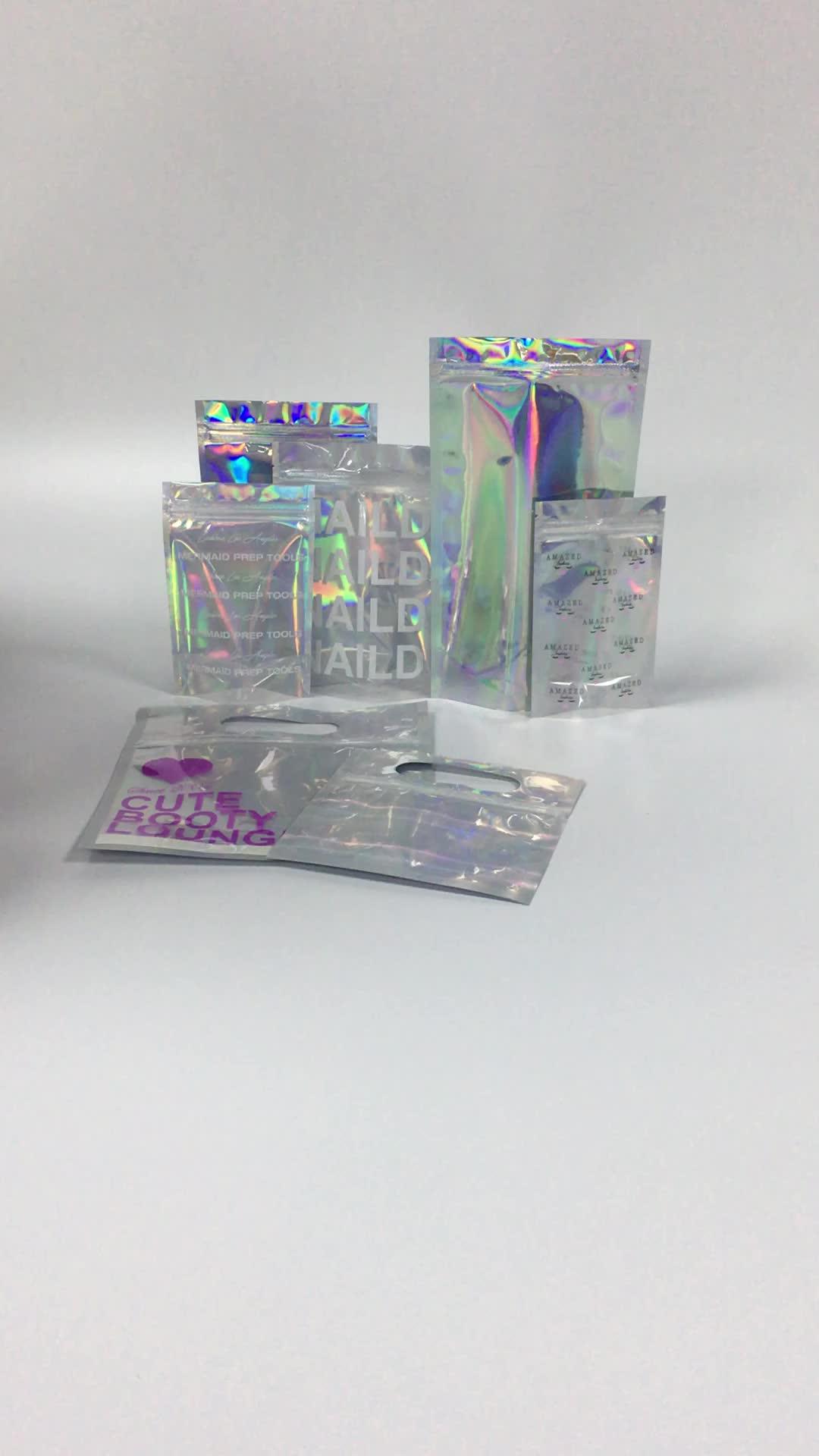 Épices l'hologramme mylar fermeture éclair sac zip de mauvaise herbe en plastique jungle garçons d'emballage pour la capsule/cosmétiques/vêtements