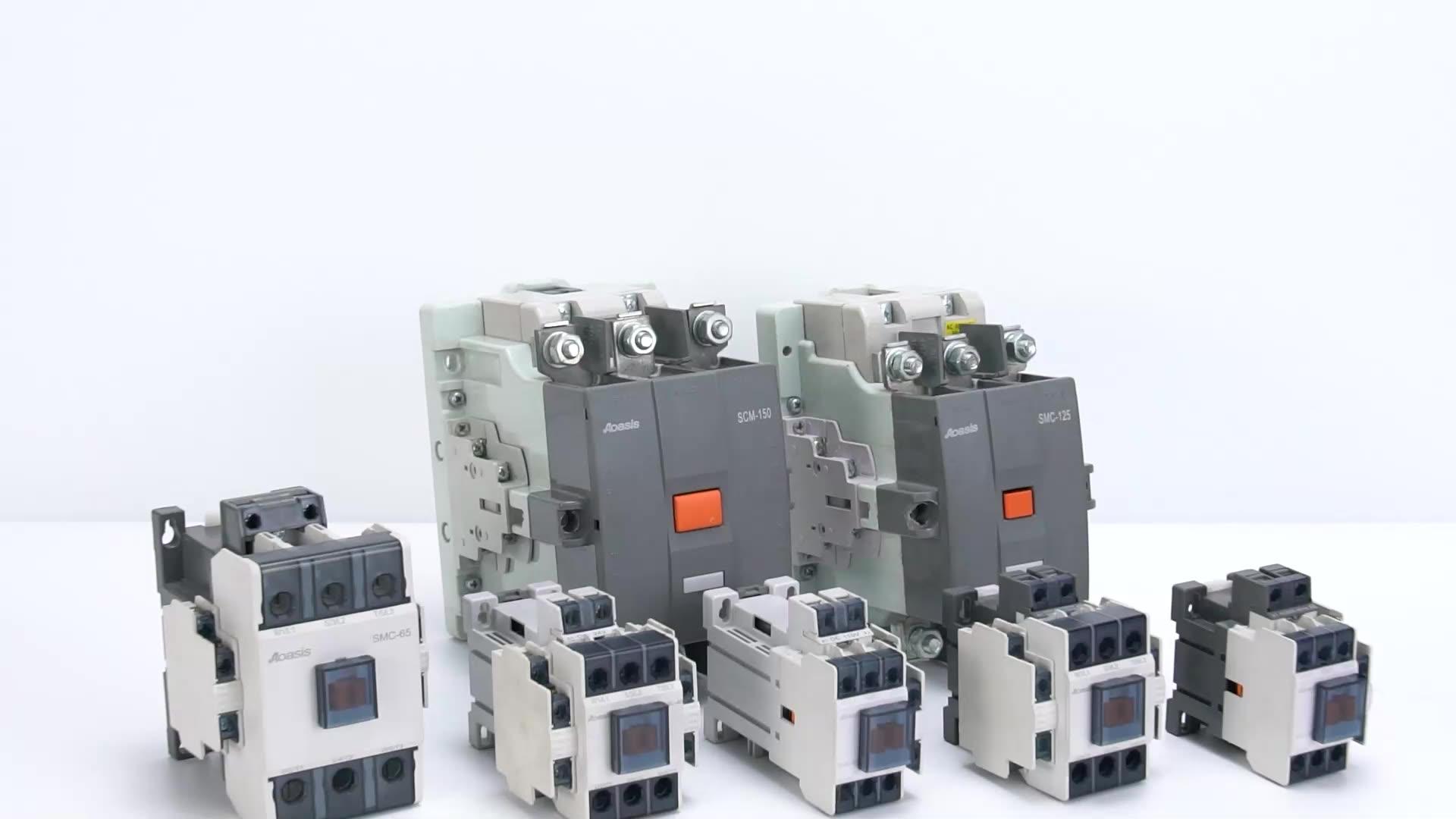 AOASIS SMC-32-Contactor telecanico, 2 polos, 220v, 32 Amp