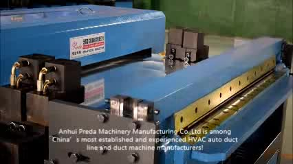 Preda factory manufactured galvanized metal duct production line duct machine for sale