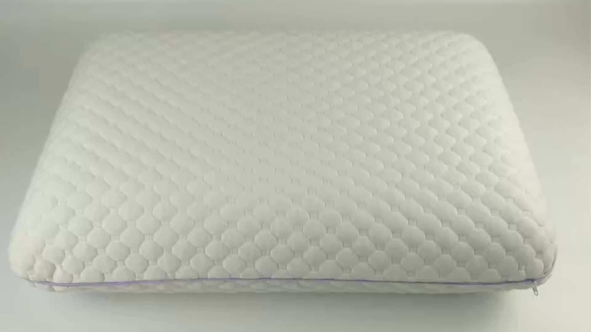 Ventilated Design Memory Foam Pillow with Airflow Channels and Stretch Knit Removable Cover