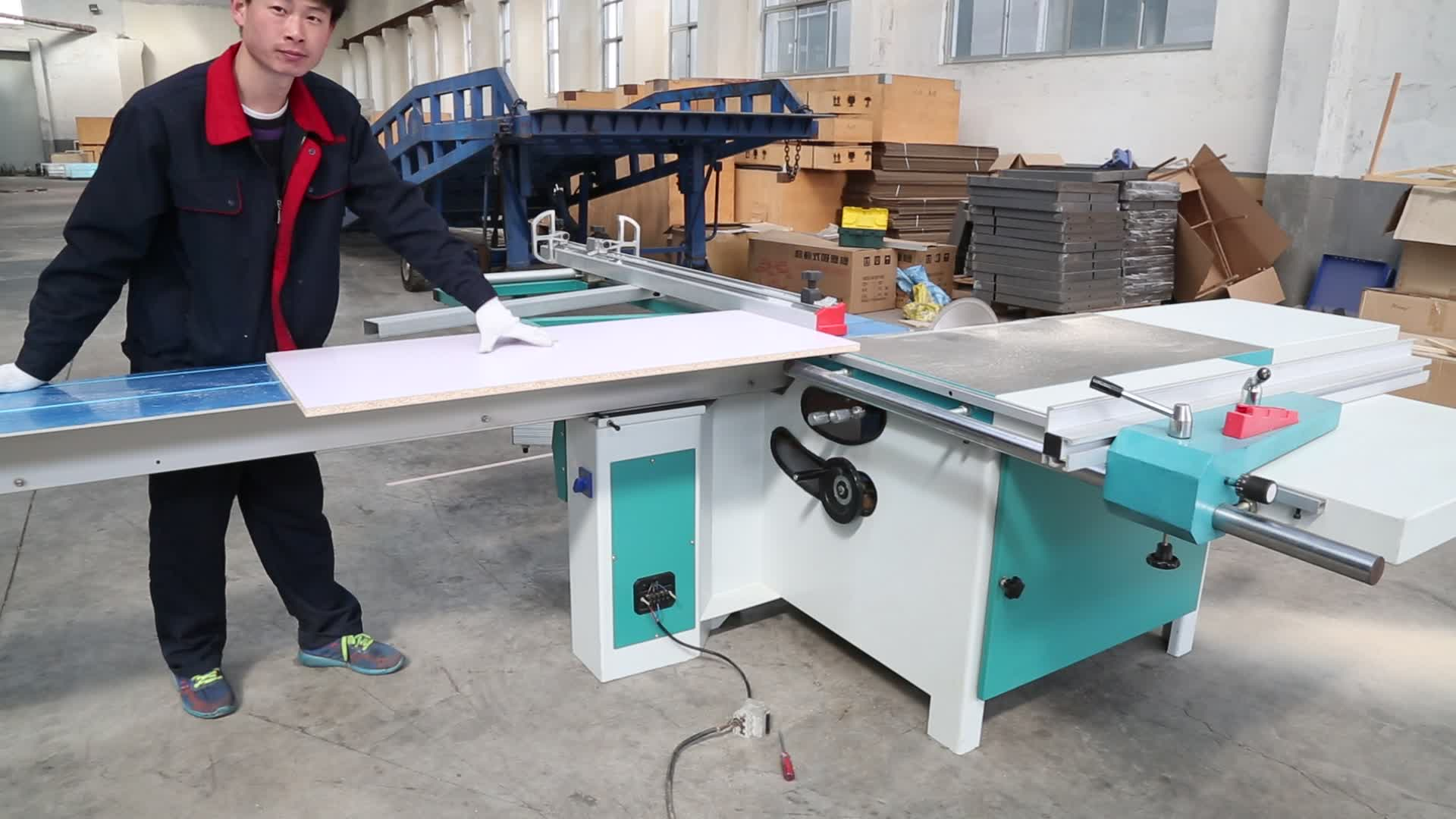 automatic woodworking sliding table panel saw