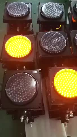 Factory supply yellow flashing signal solar warning light
