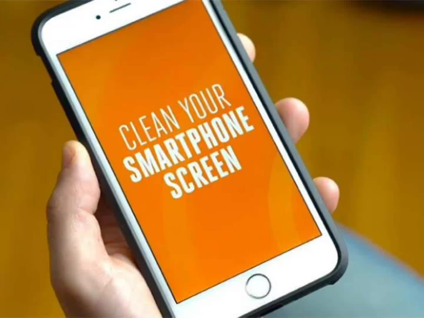 Most Popular Mini Self Adhesive Mobile Cell Phone Sticky Screen Cleaner for iPhone