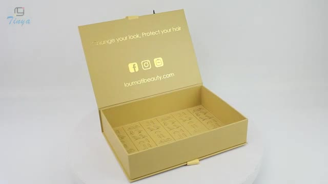 custom luxury white hair extension packaging boxes