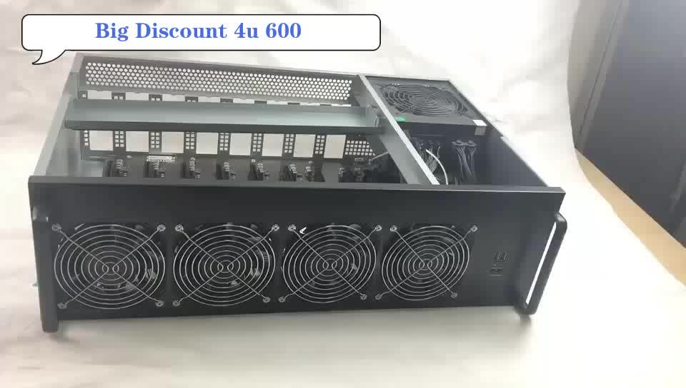 ethereum mining for 8 graphics cards ,4U 612 miner chassis, GPU mining rig