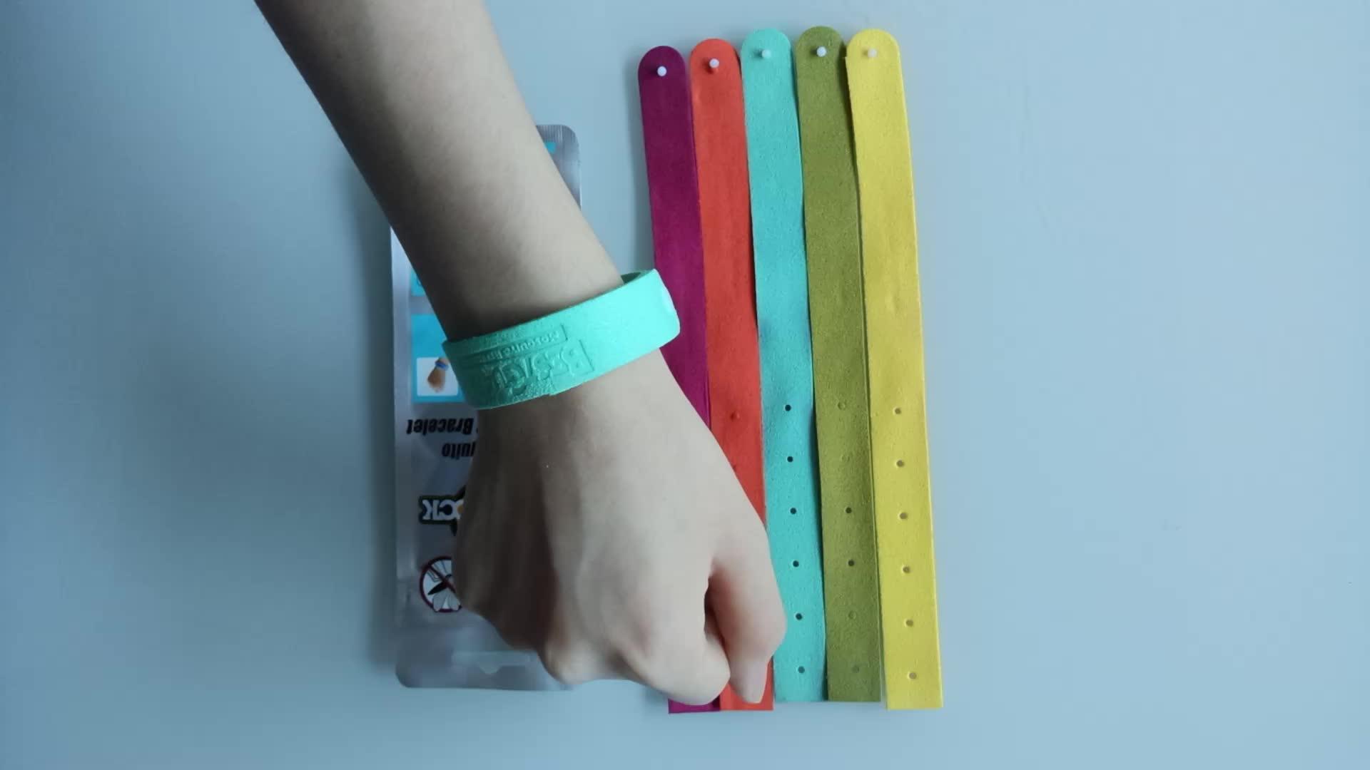 Anti Moskito Mozzie Insektenschutzmittel Handschlaufe Großhandel Repeller Armband Handgelenk Band Insektennetze Camping