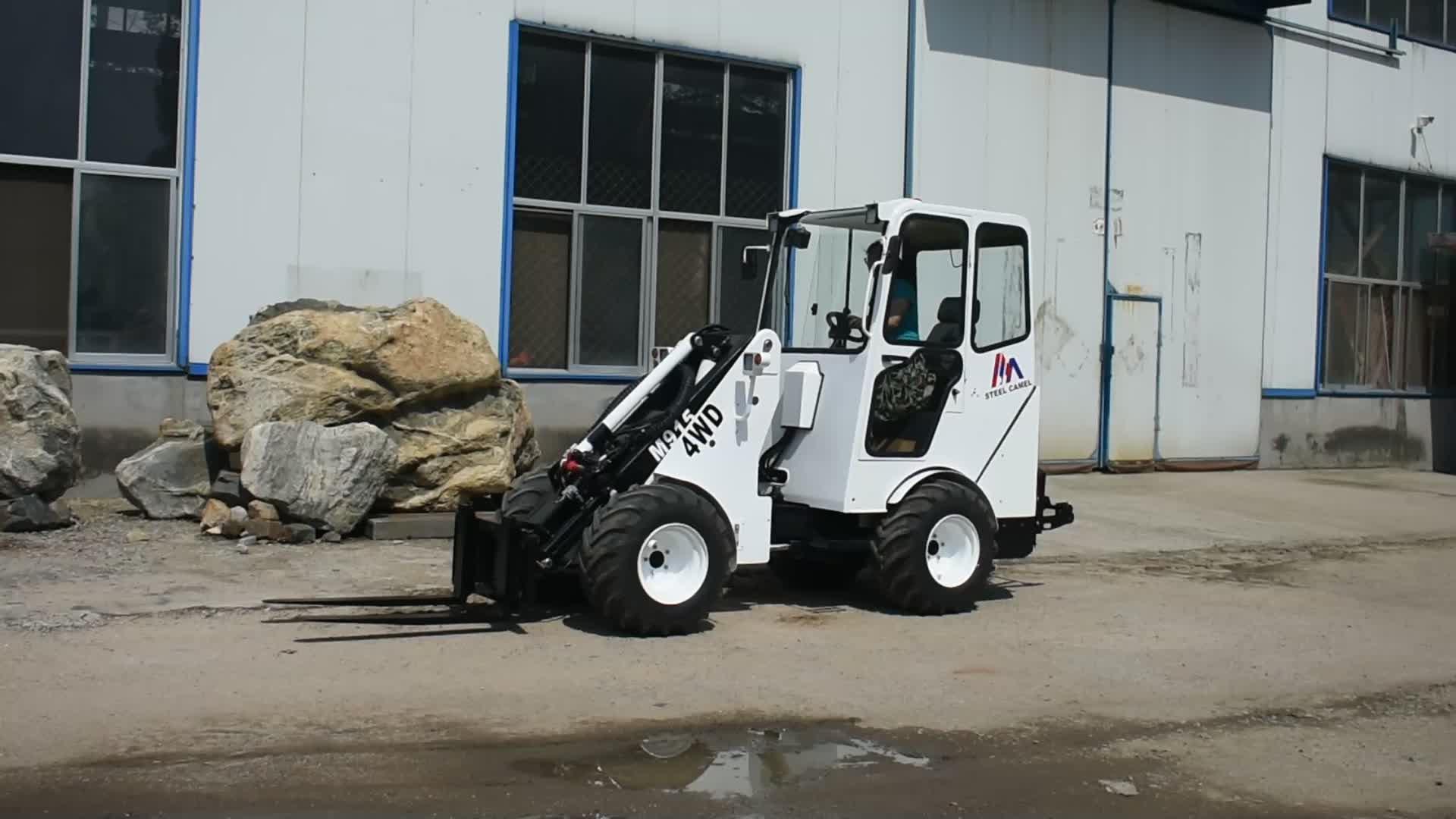 1.5ton farm machinery equipment tractor telescopic wheel loader M915 with CE EPA