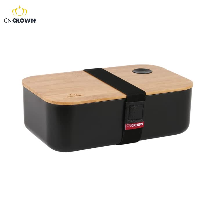 Bamboo Lunch Box Customized LOGO bio-degradable lunch box Food Grade bento box BPA Free Plastic PP from China, 1510mlTwo layers