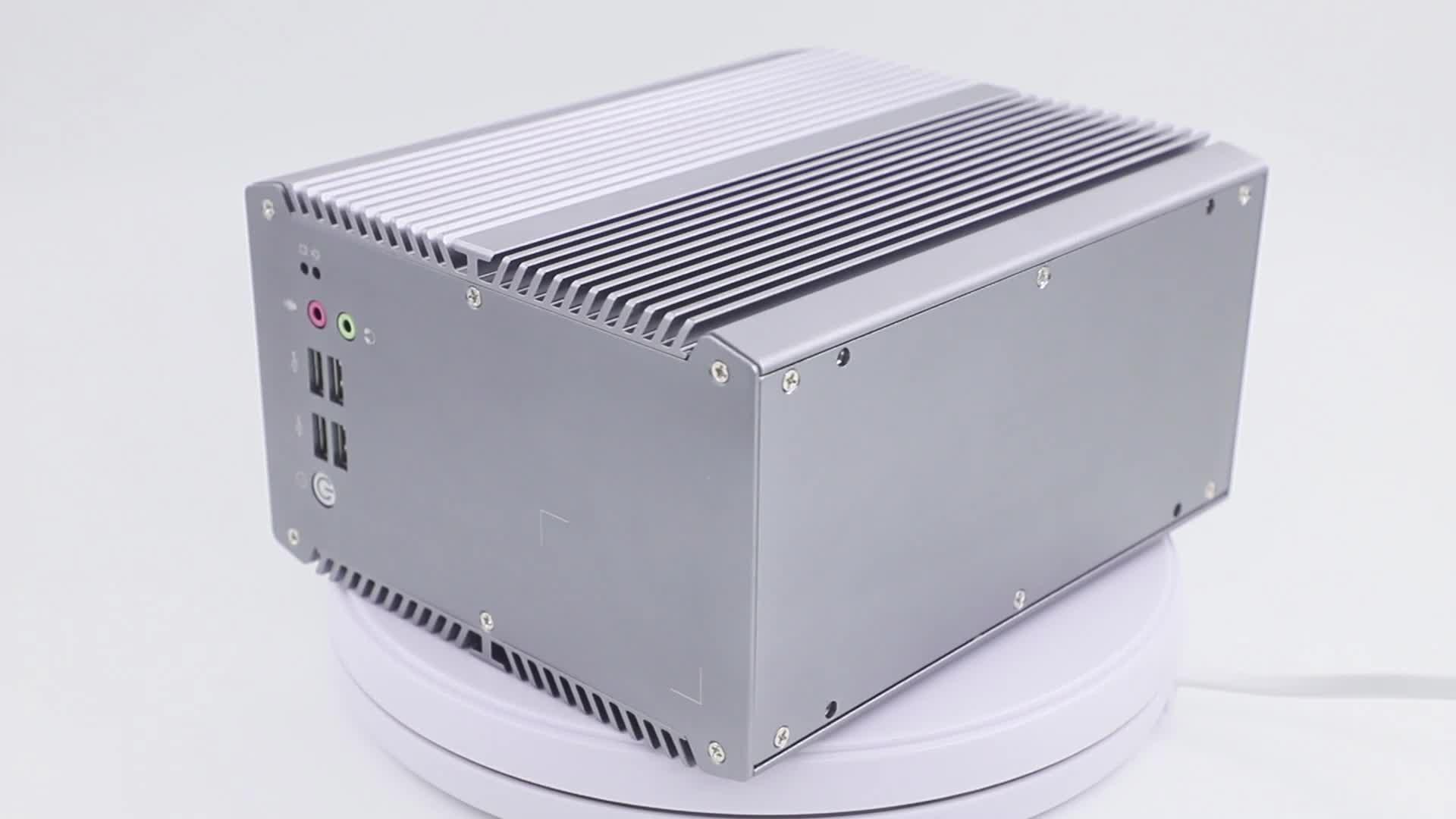 Doppio display core i3 i5 i7 fanless pc industriale computer con pcie