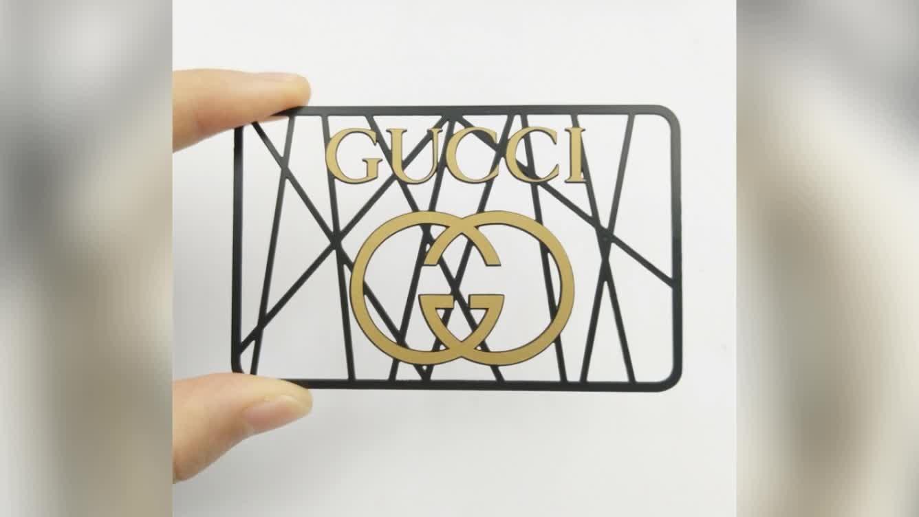 Atacado de luxo cartão do metal cartão de black metal