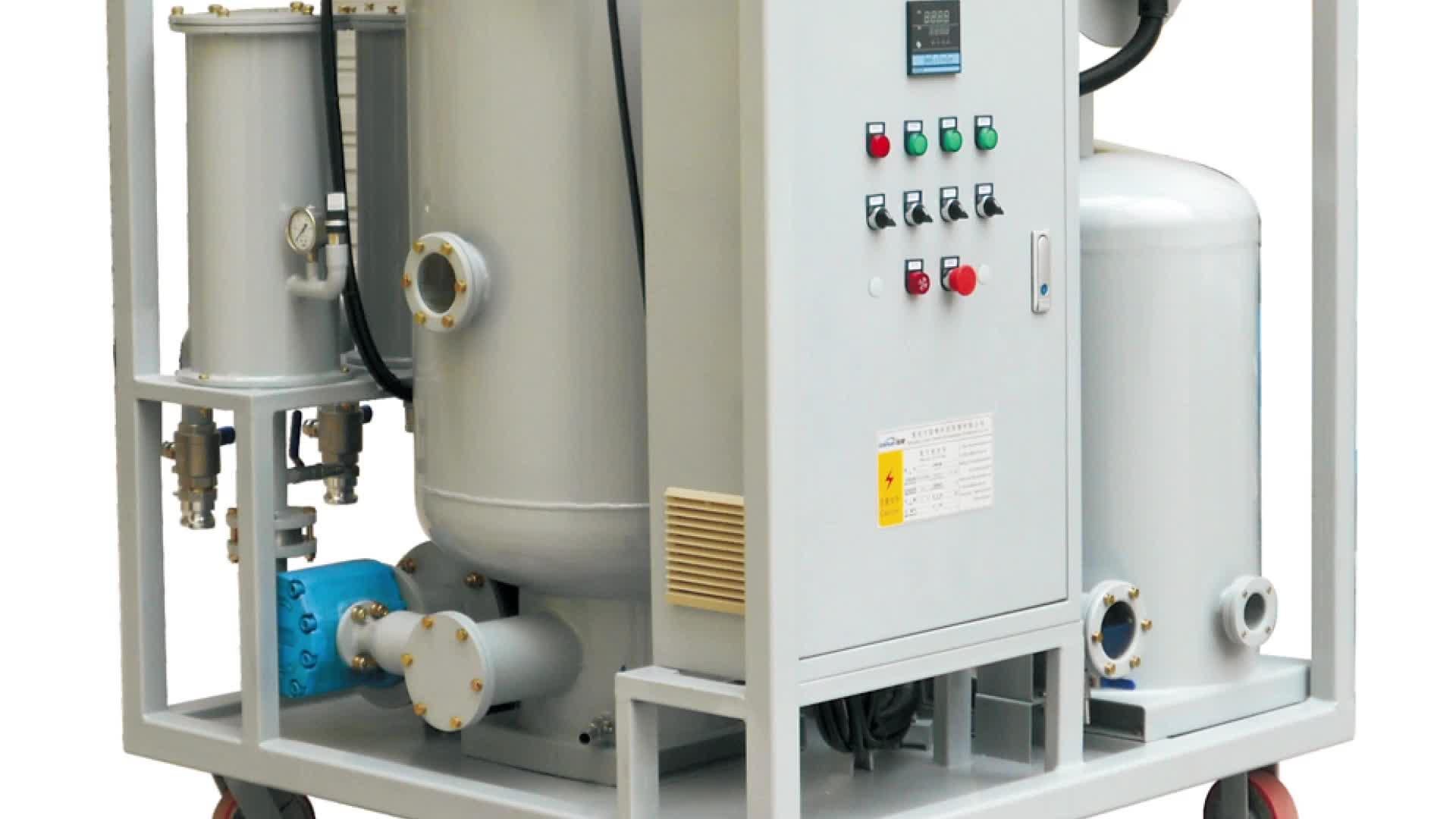 Système de vide poussé d'huile De graissage de Déchets Machine de Raffinage/utilisé machine de recyclage d'huile (ZL)