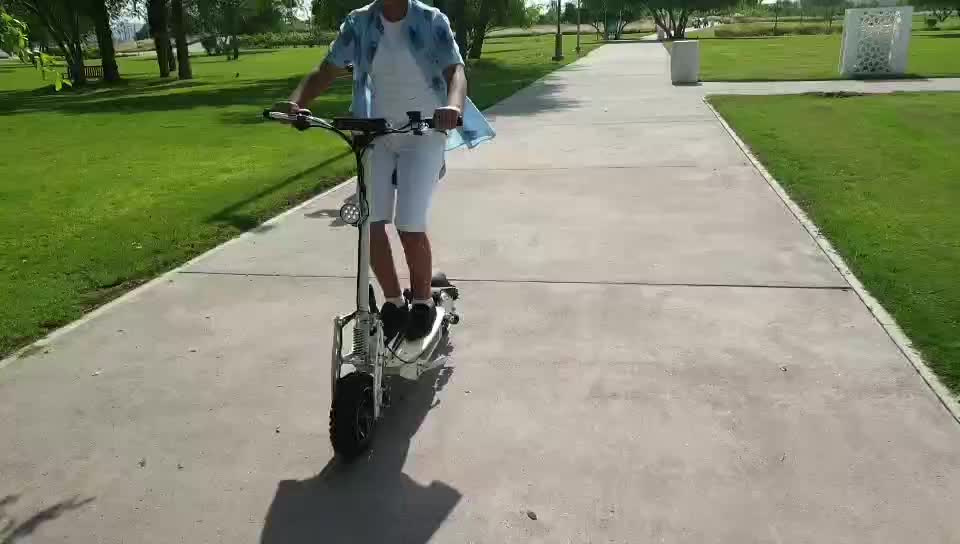 powerful adult off road electric scooter 2000w 60v with seat