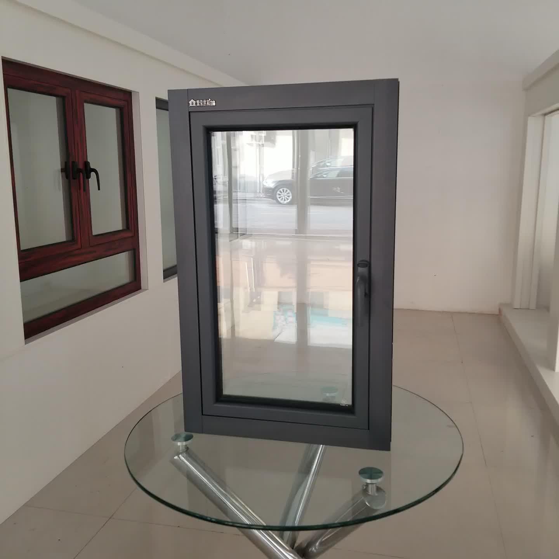 Fenêtres en aluminium Prix Philippines Ouverture 180 Degrés Avec Verre de Teinte de Fenêtre À Battants