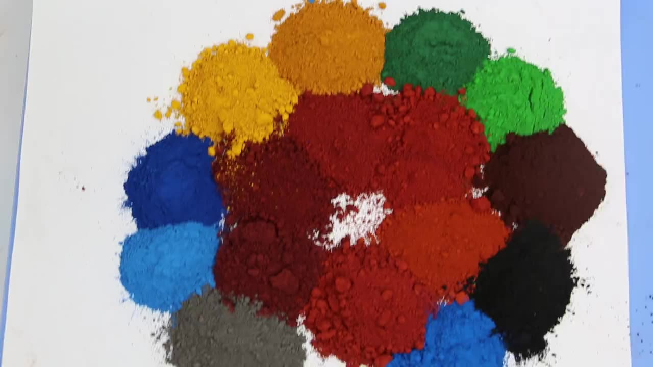 Pigment Nature Manufacturer Directly Export Coloured Iron Oxide  Price