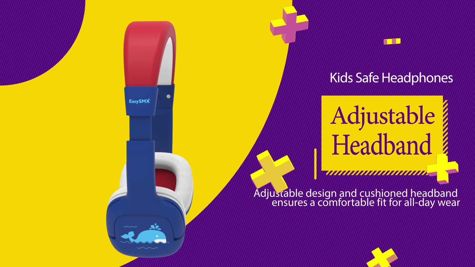 Wireless kid's headset with volume control and share port P18W