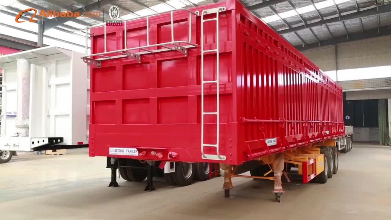 China fabricación 2 Eje seco van Tipo de remolque de carga/caja de semi remolque (1-5 bifold cada lado)