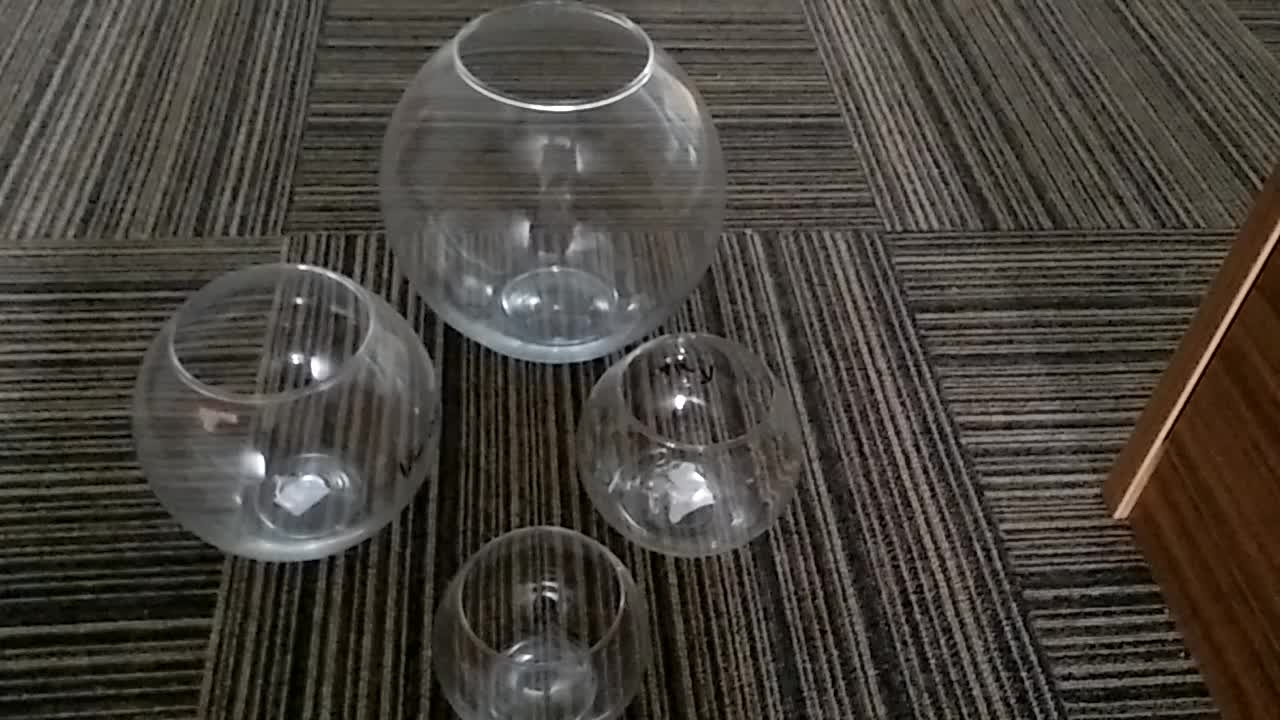 Wholesale transparent round glass fish bowl vase