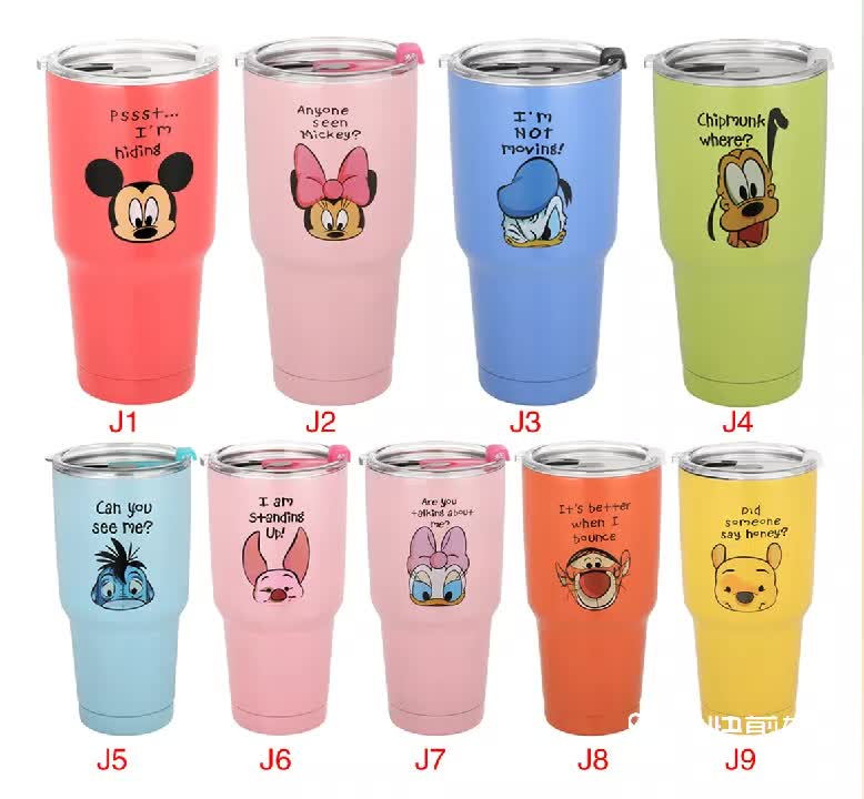 2019 new camouflage Double Wall Stainless Steel Stemless Wine Glass with clear lid Vacuum Insulated Tumbler
