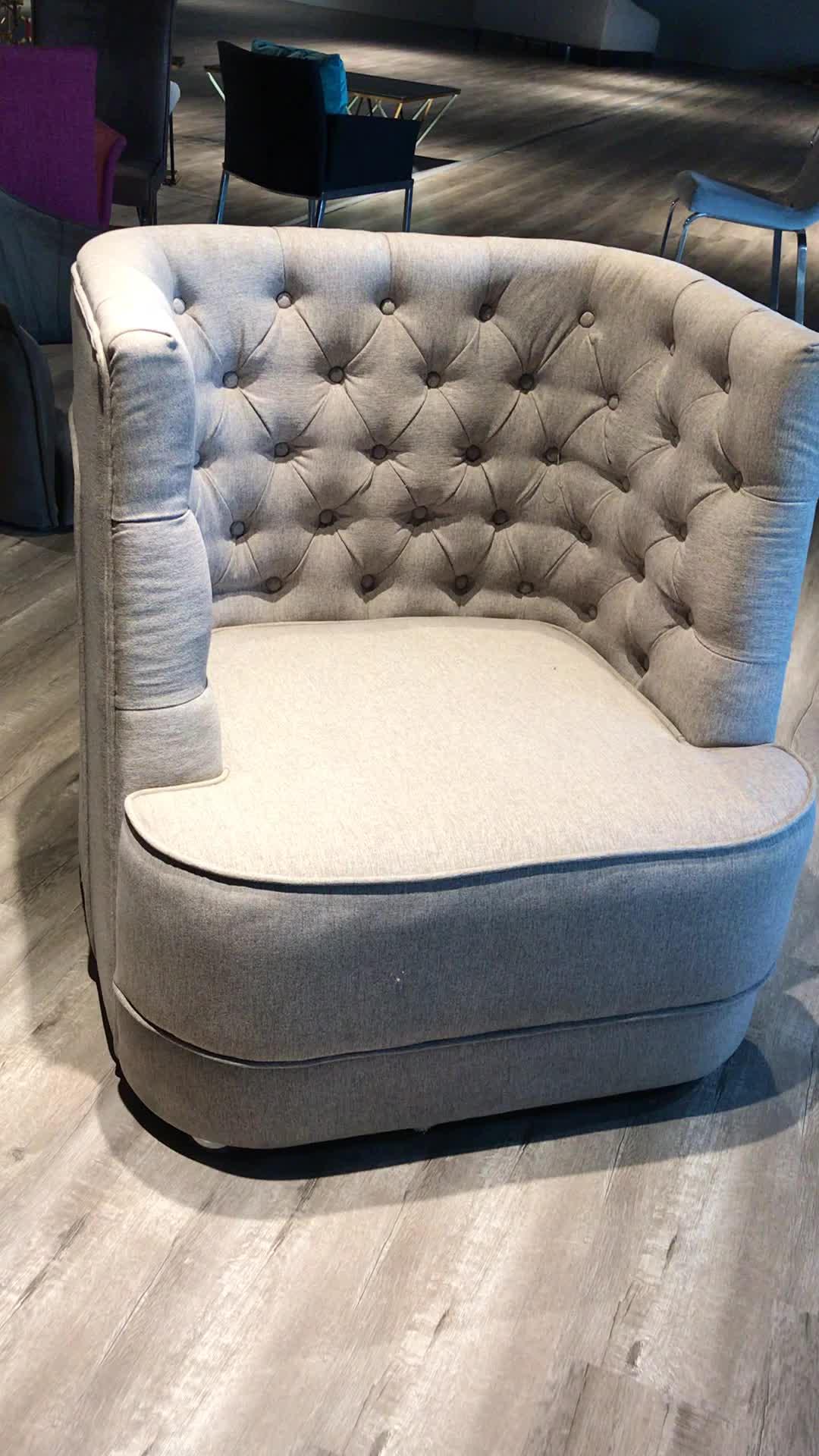 2020 neue Luxus Lifestyle Zeitgenössische Wohnzimmer Möbel Taste Tufted Hohe Flügel Zurück Sofa Arm Stuhl