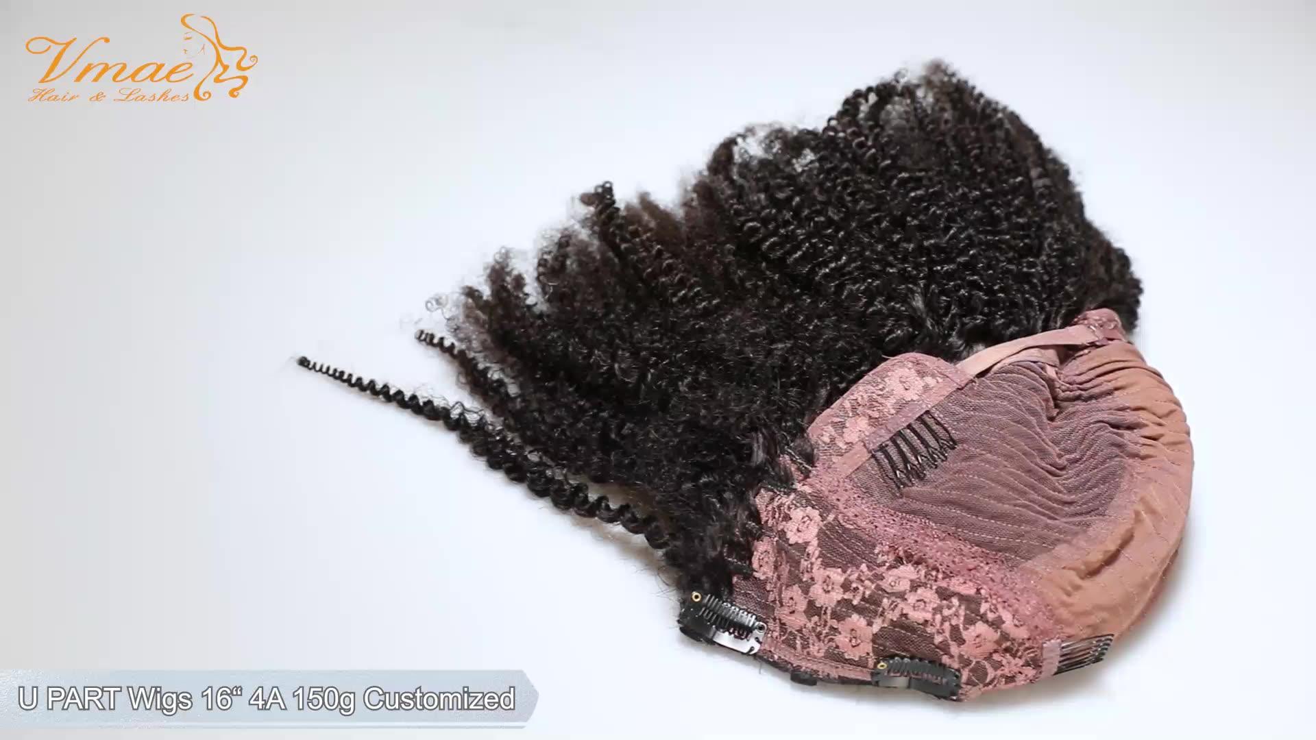 VMAE Nuovo Stile Birmano 4A Parrucca 130 Densità del Colore Naturale Morbido Del Merletto Dei Capelli Umani U Parte Parrucca