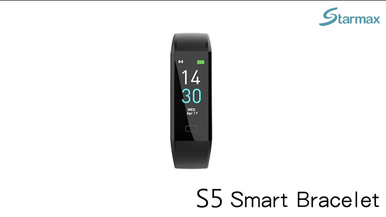 High Definition Color Screen/Direct Charge/Message Display Smart Fitband with Heart Rate