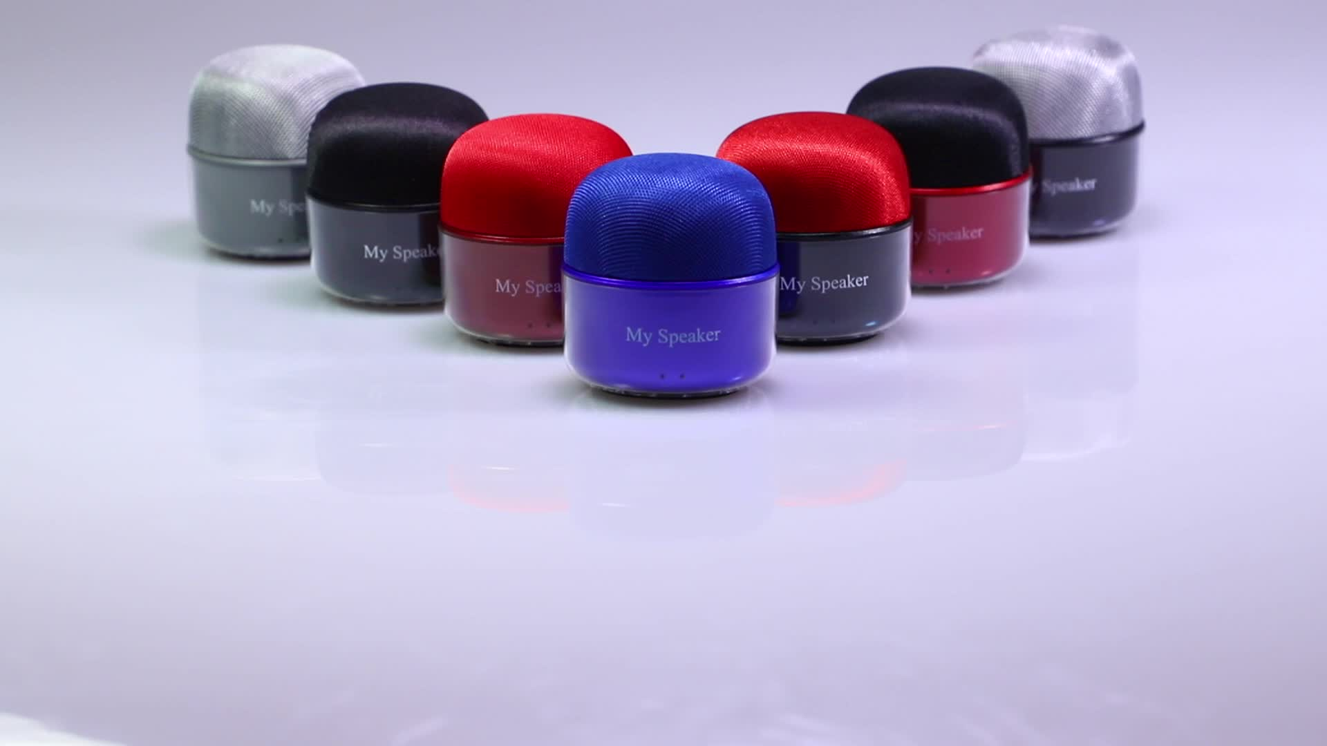 Latest design high end promotion gift bluetooth mini TWS speaker with superior stereo sound