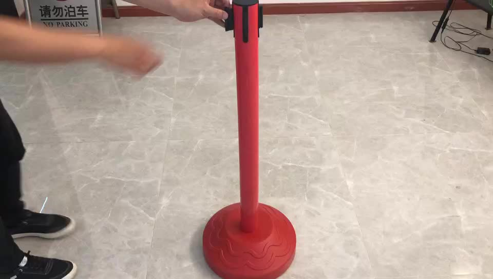 plastic barrier retractable belt post stanchion for sell