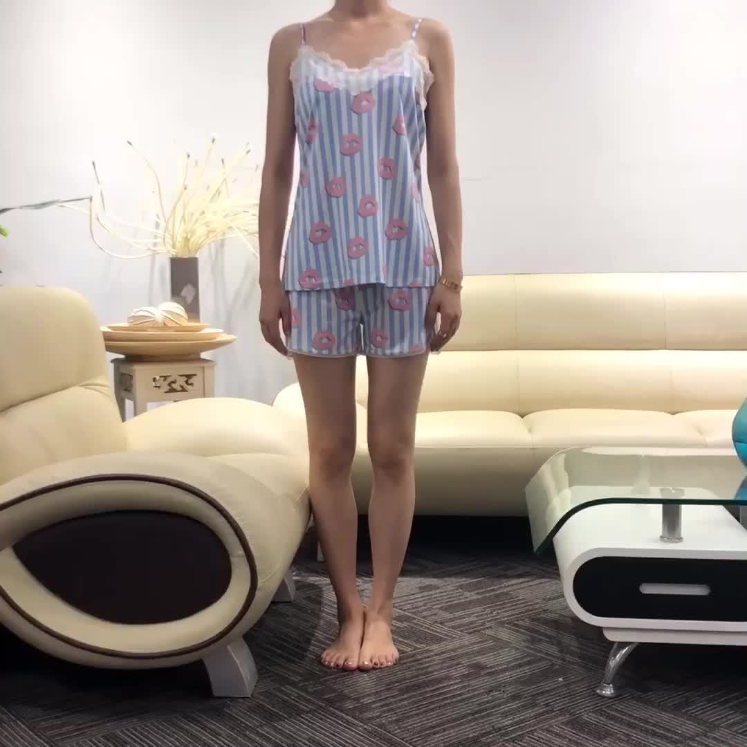 Sommer Tragen Pyjama Günstige Pyjamas Kurzen Set Frauen Homewear Nachthemd