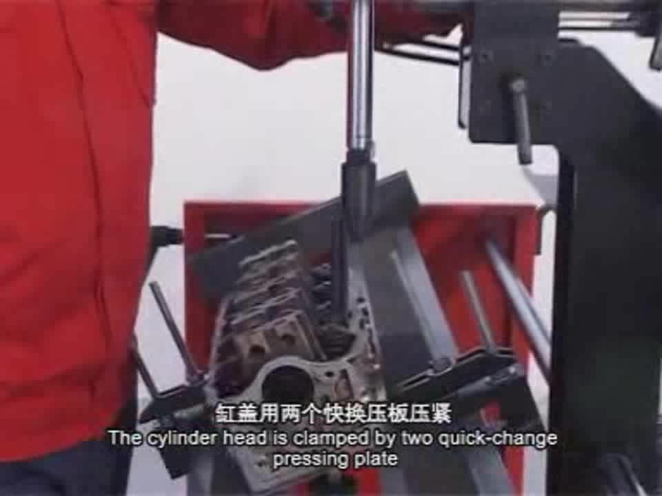 pneumatic control universal working station for car engine cylinder block and head installing disassemble spring retainer