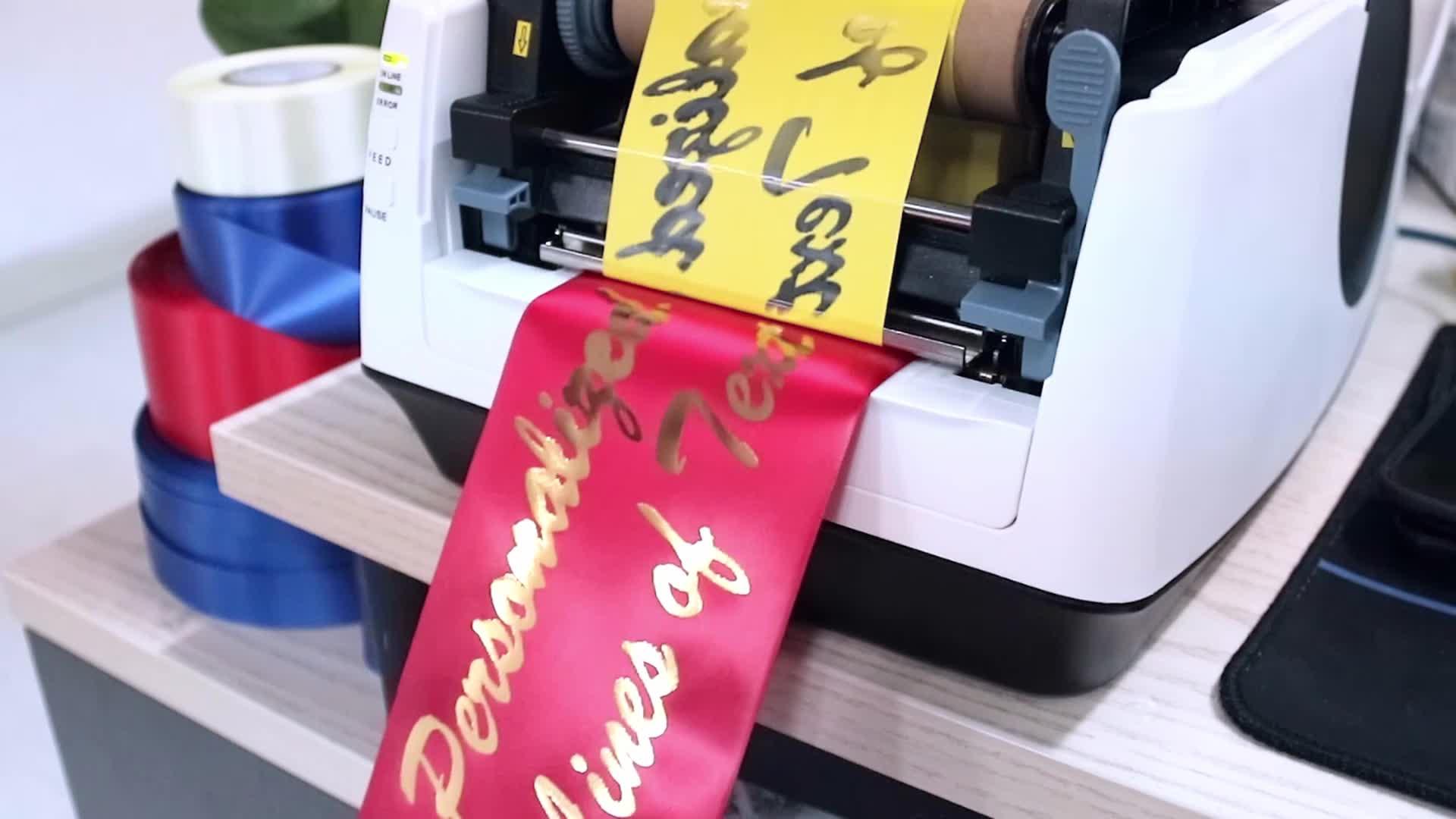 Tanda N Pemakaman Ribbon Printer Kecepatan Tinggi Mesin Cetak untuk Pribadi Kesadaran Pita
