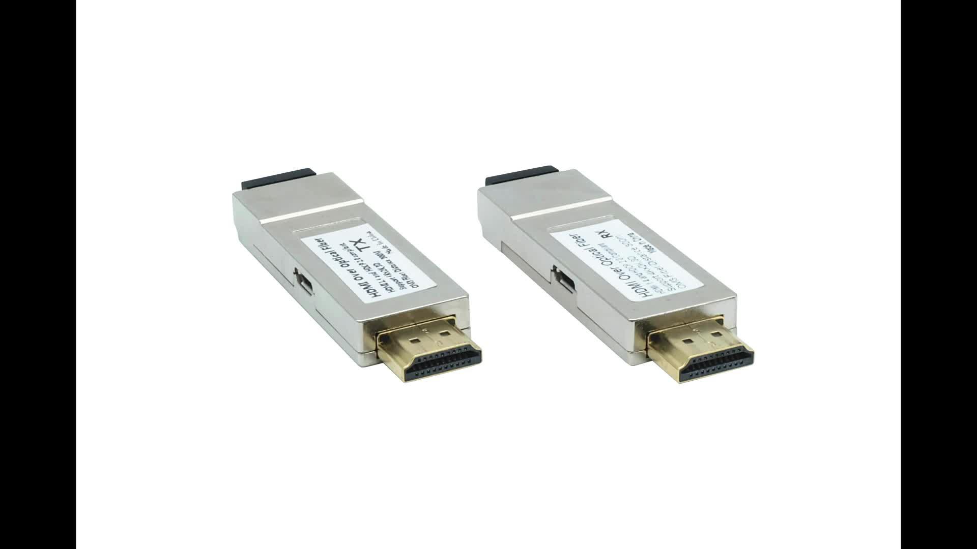 PWAY/High quality mini HDMI fiber extender 300m