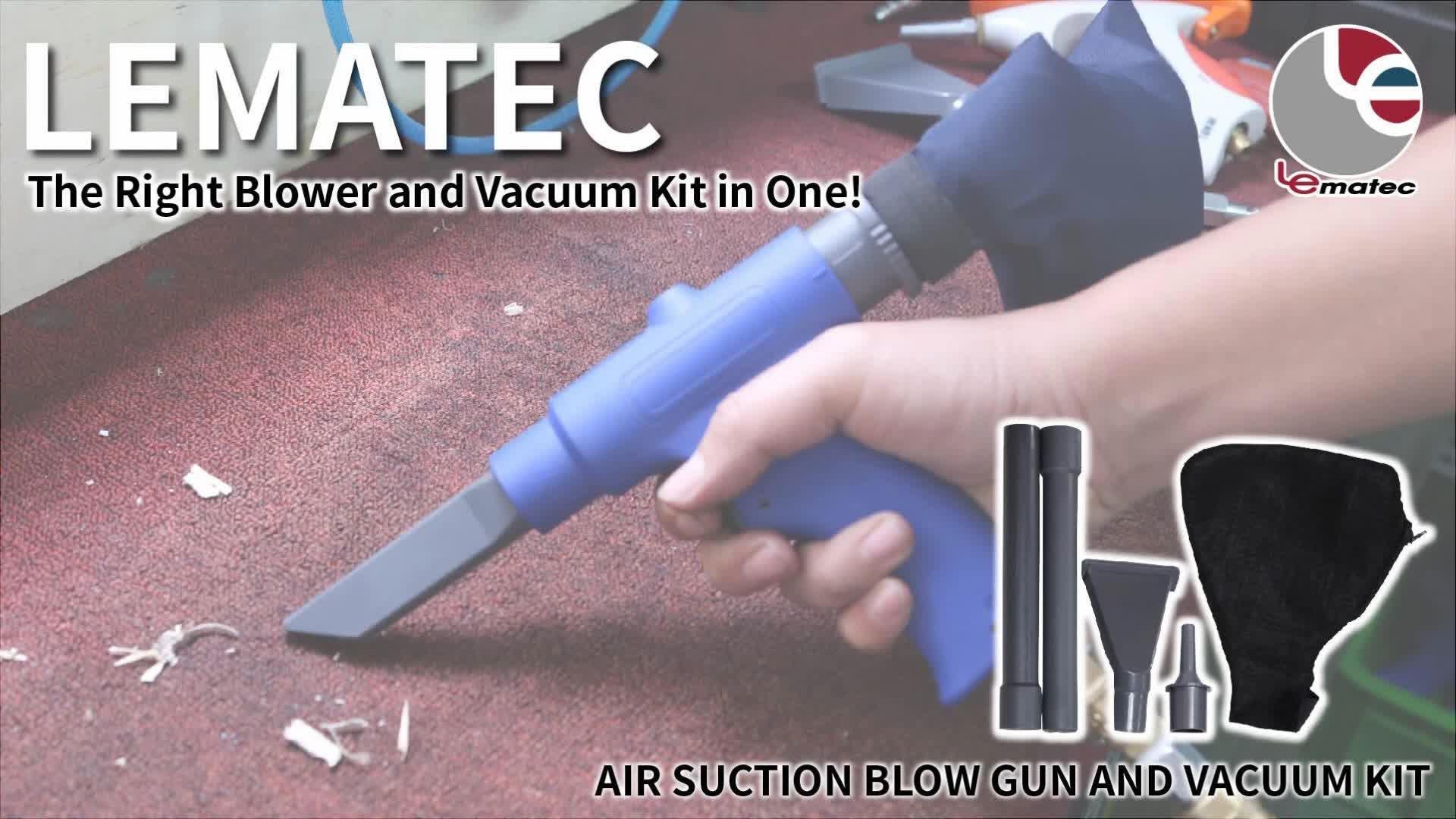 Yüksek Kaliteli Pnömatik Aracı Hava Wonder Gun Le Hızlı Değişim Hava Üfleme Ve Elektrikli Süpürge Tabancası