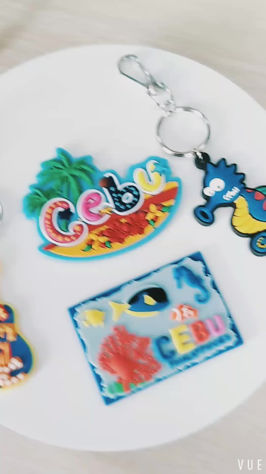 Ad coloful  rubber keychain pvc keychain 3d silicon key chain customized custom key ring