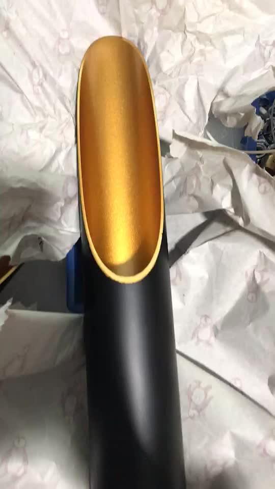 מודרני פמוט קיר תאורה למלון ייחודי צינור מתכת זהב