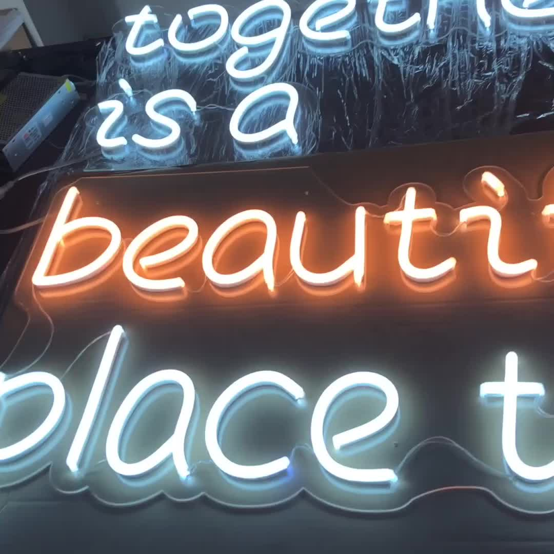 Attractive Unbreakable Led Flexible Neon Sign 12v For