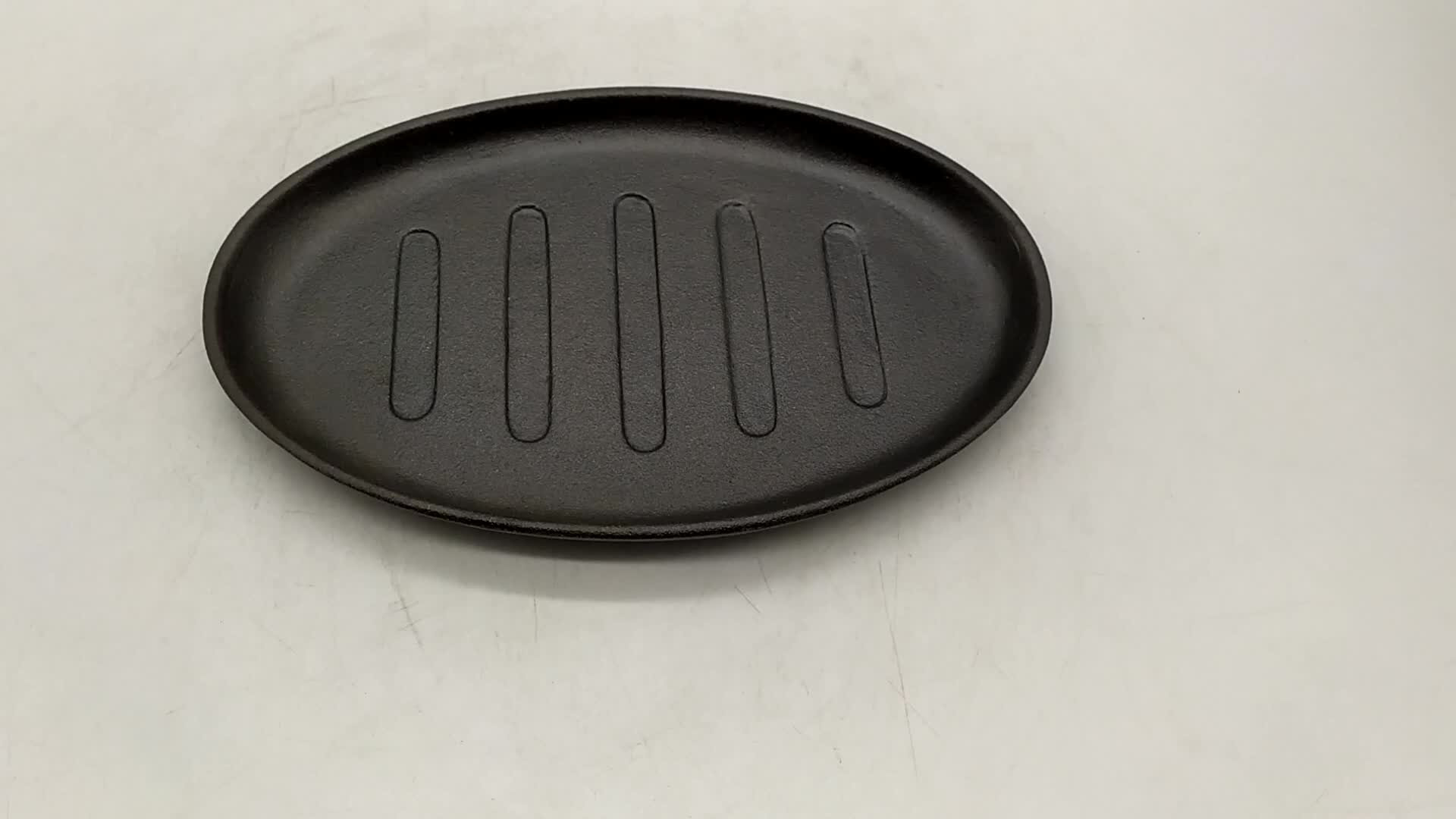 cast iron griddle oval sizzler plate no handle