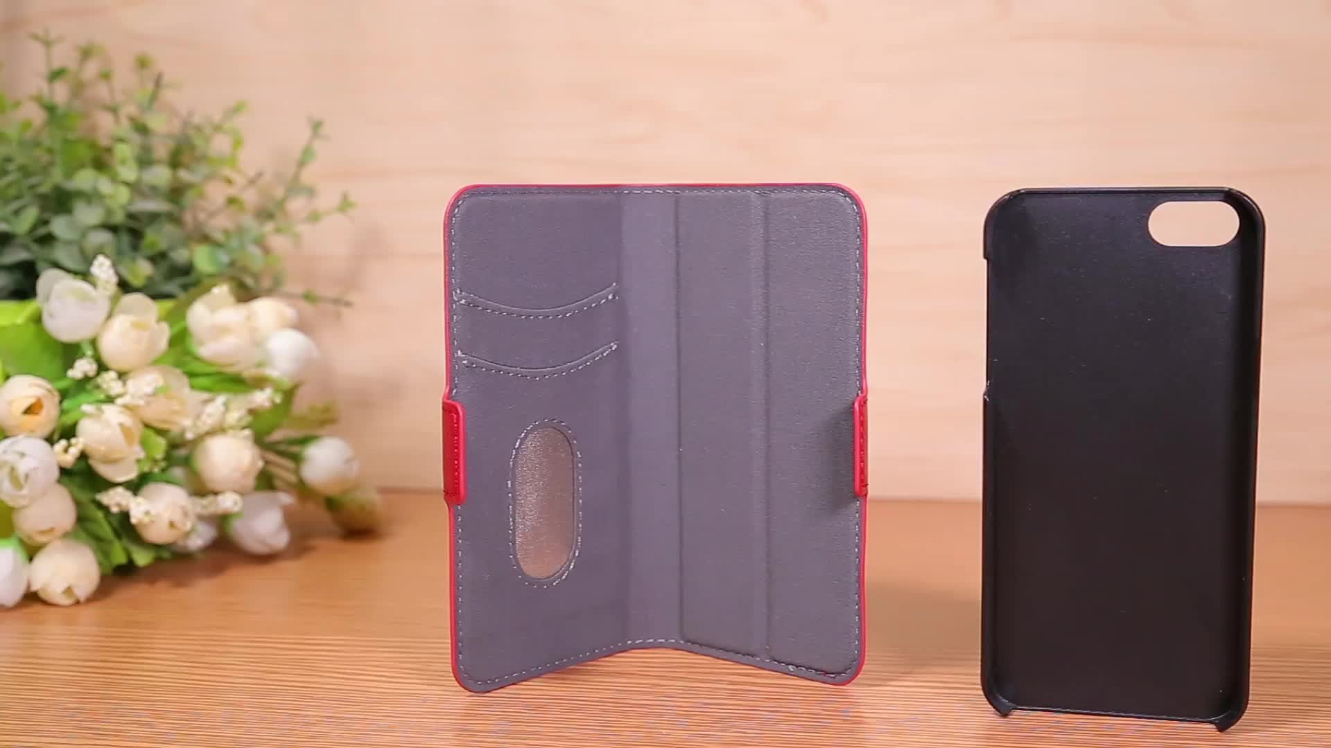 All In One Detachable Magnet Card Holder Leather Flip Phone Case Cover For Apple iPhone 7 Plus
