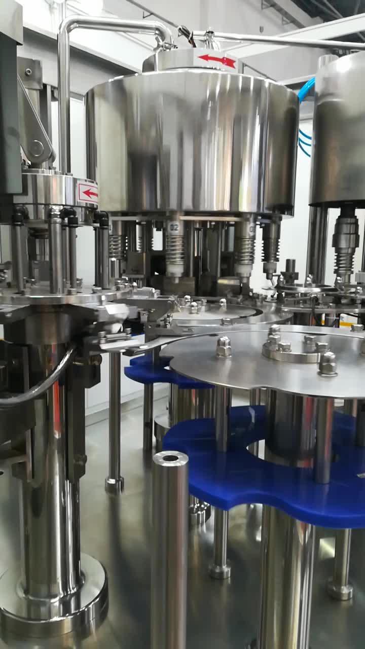bottle filling washing capping carbonated water production plant